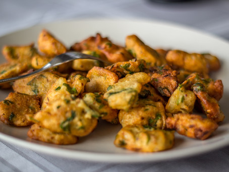 Zucchini Kohlrabi Carrot Fritters