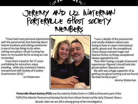 Paranormal Ghost Society - February