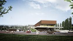 Evka3 Social Center and Transit Stat