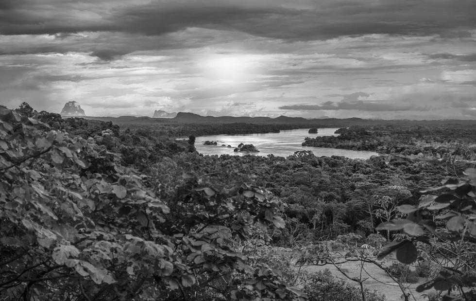 Vista a los Tepuyes venezolanos o La ventana de  Humboldt. byn.jpg