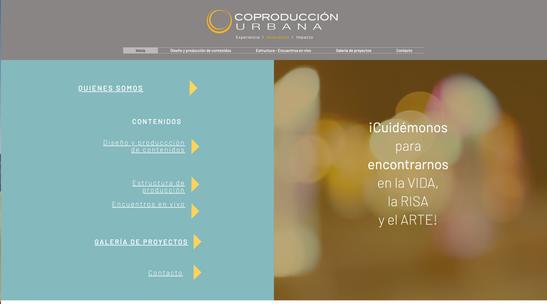 Diseño web Coproducción Urbana