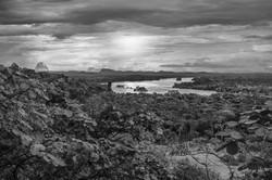 Vista a los Tepuyes venezolanos byn
