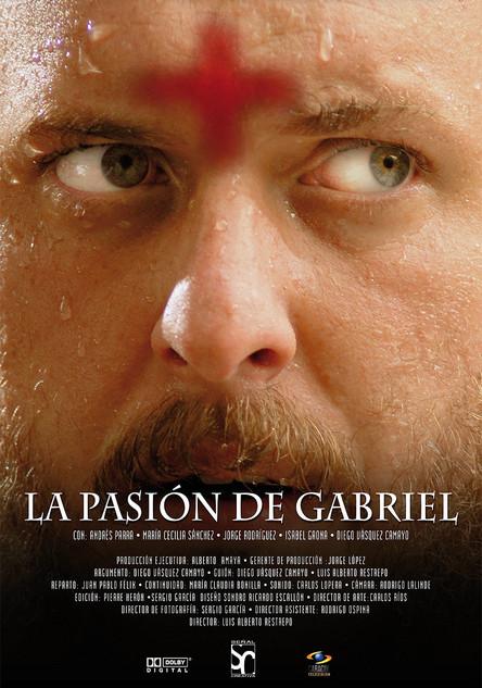 """Cartel para la pelicula """"La pasión de Gabriel"""" 2009."""
