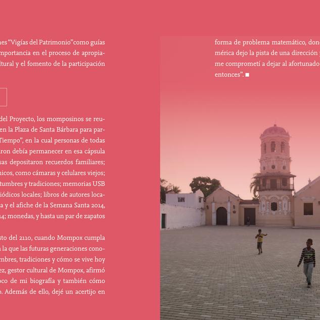Páginas interiores, libro Espacios de Vida. Cliente Ministerio de Cultura 2016.