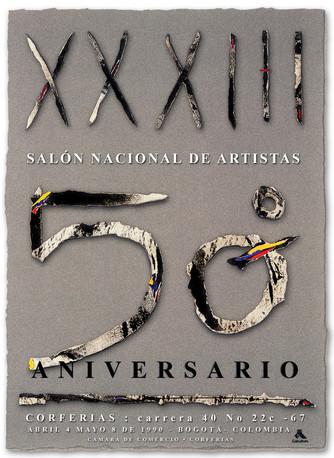 Diseño de cartel para el 30 Salón Nacional de Artistas.