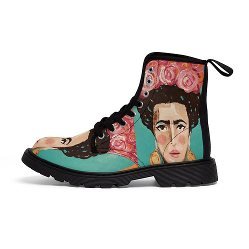Artist Designed  Frida Kahlo - Canvas Boots