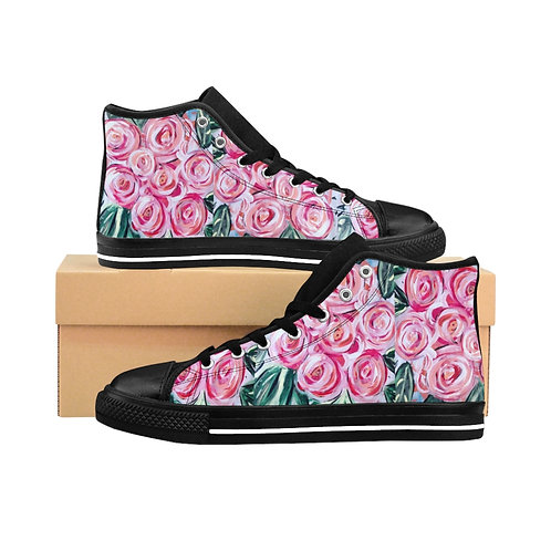 Women's Floral High-top Sneakers