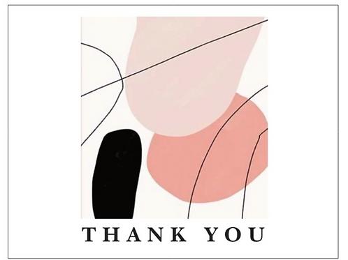 Thank You Art Cards 6pkg