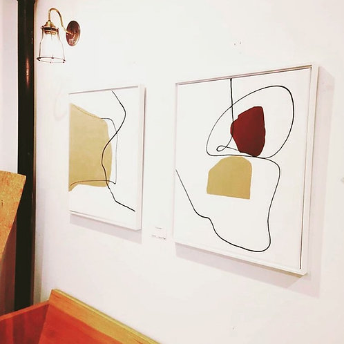 Minimalist Abstract Diptych