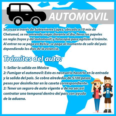 Llegar a Belice en Automóvil, requisitos para entrar aa Bélice en auto, carro
