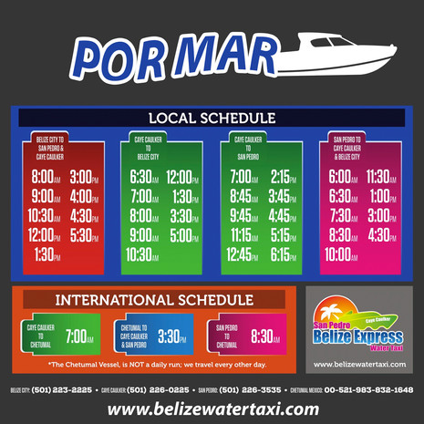 Lllegar a Belice por Ferry desde Chetumal