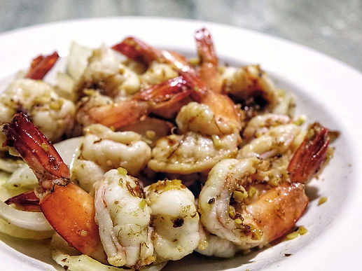 Seafood in Mahahual, the most beatiful beach