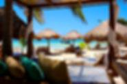 Yaya beach, eat in front Mahahual Beach