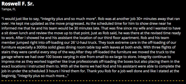 Roswell Testimonial