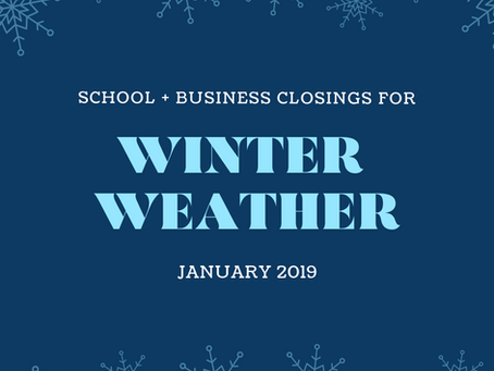 Atlanta Winter Weather: School + Business Closings