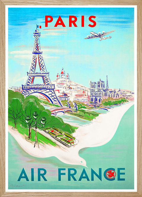Illustration Air France Paris
