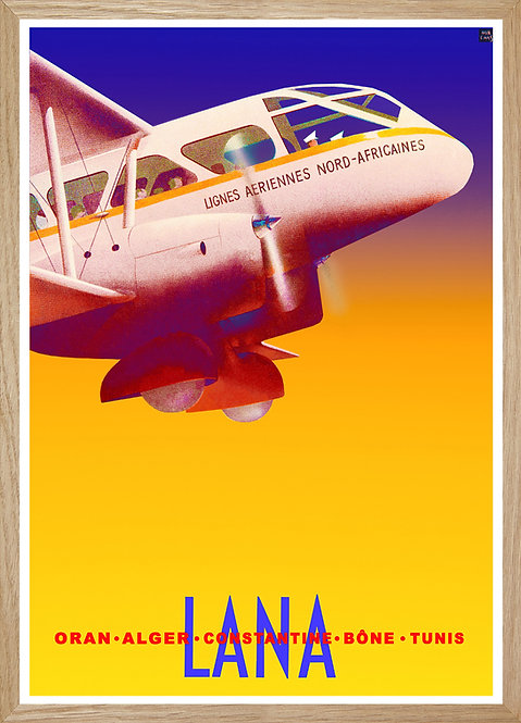 Illustration murale Air France LANA