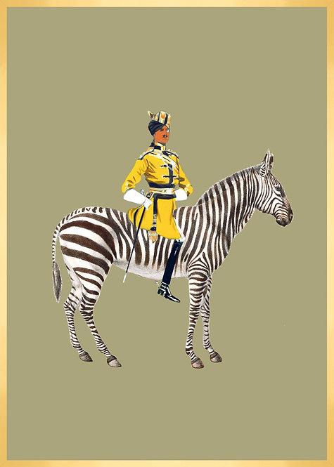 Monsieur le cavalier et son ami le zèbre