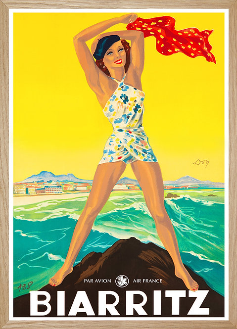 Illustration Air France Biarritz