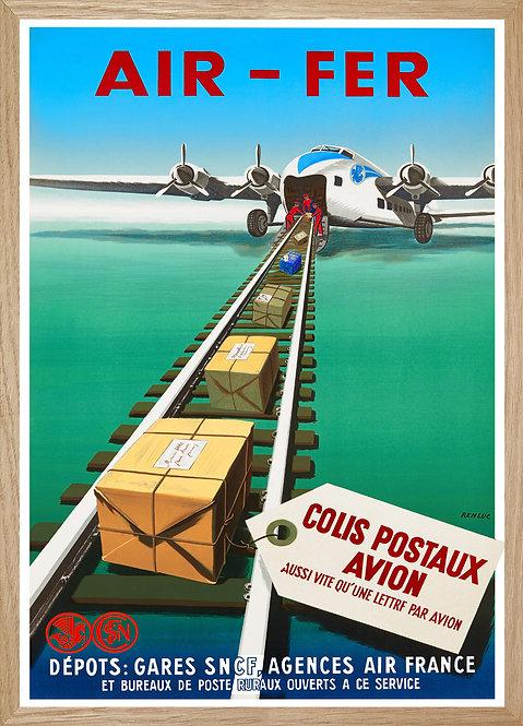 Illustration murale Air France air-fer