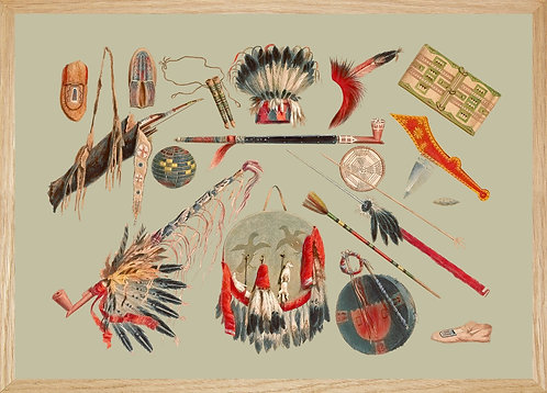 Illustration  OBJETS RITUELS ET ARMES INDIENNES