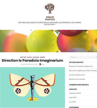 Le Domaine de Beauvence parle des créations paradisio imaginarium