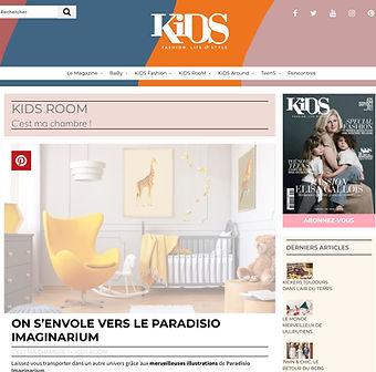 Joile sélection d'illstration pour enfants de chez paradisio imaginarium dans le web magazine Kids