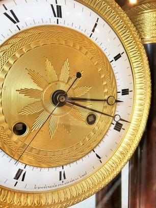 Empire French portico clock
