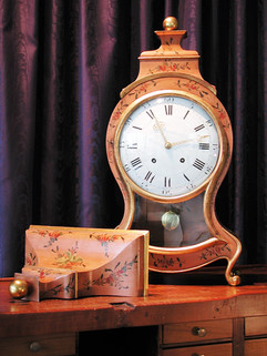 Huguenin Louis XVI Swiss Neuchatel clock