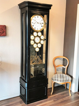 Massive 1880 French multidial French clock by Prêtre