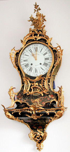 Louis XV French clock signed by Quoniam a Parie