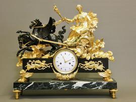 """""""Au char"""" French clock"""