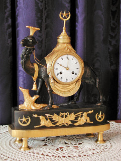 """Au dromadaire"" French clock"