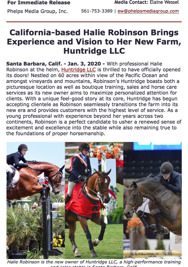 Read more at: https://myemail.constantcontact.com/California-based-Halie-Robinson-Brings-Experience-and-Vision-to-Her-New-Farm--Huntridge-LLC.html?soid=1120353893993&aid=cWeZMfNMRDs&fbclid=IwAR1S0pq_RbzEuYWSrDijVN2xGnaTyzD8kZ5ZHC9-7QneHEue1sg2-MhRlbg