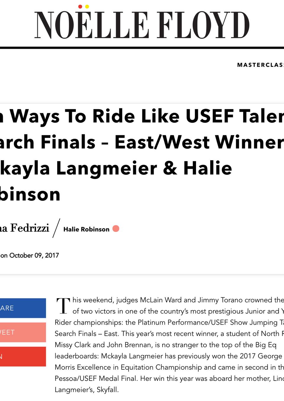 Read More At: https://www.noellefloyd.com/blogs/nf-style/ten-ways-to-ride-like-usef-talent-search-finals-east-west-winners-mckayla-langmeier-halie-robinson?_pos=1&_sid=334135855&_ss=r