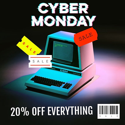 CYBER MONDAY EXCLUSIVE ENDS 12/21/20
