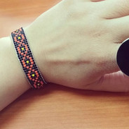 #pulsera #hechamano #mostacillas #tejido