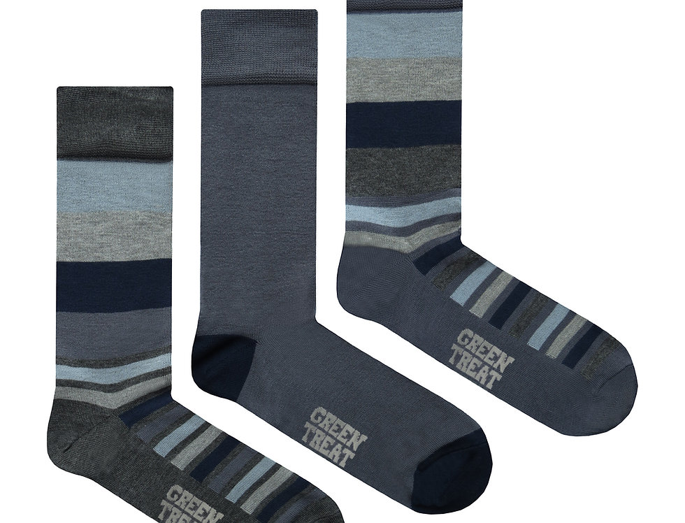 Mens GreenTreat 3pk Bamboo Socks MSHGT1300