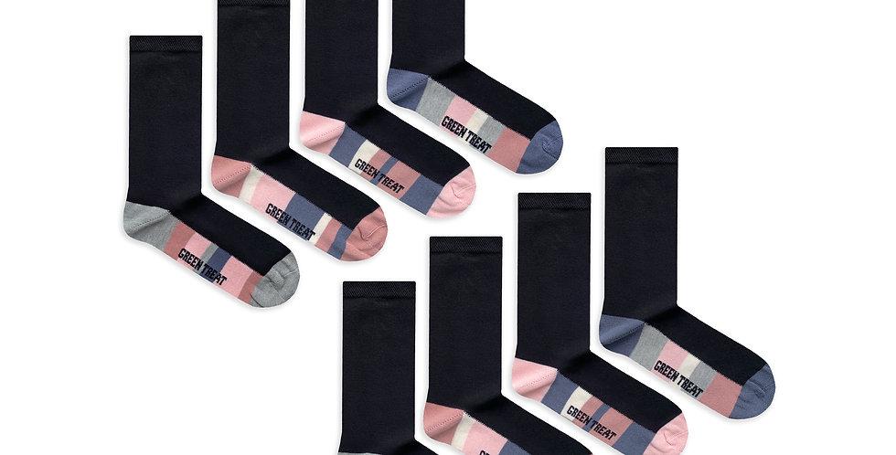 Ladies GreenTreat 8pk Bamboo Socks