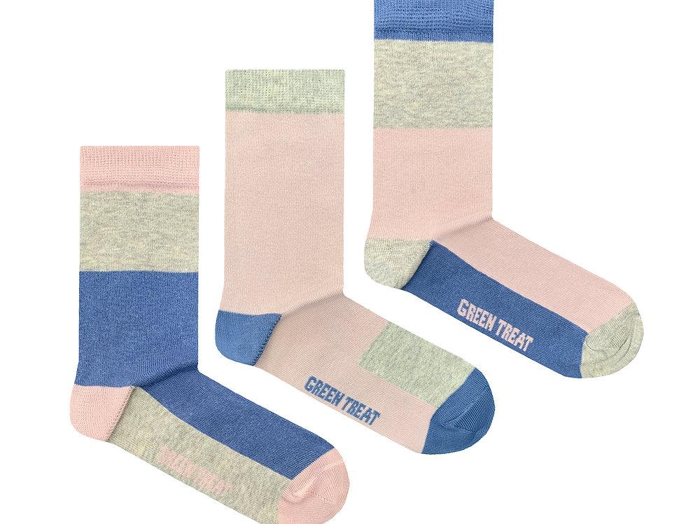 Girls GreenTreat 3pk Organic Cotton Socks GSHGT171
