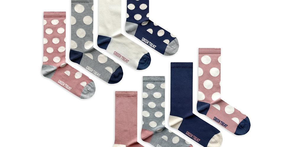 Ladies GreenTreat 8pk Bamboo Socks LSHGT1721