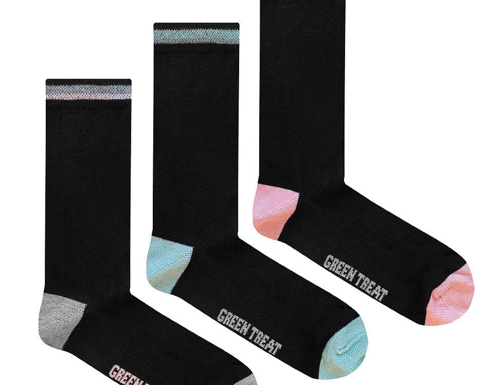 Ladies GreenTreat 3pk Bamboo Socks LSHGT1572