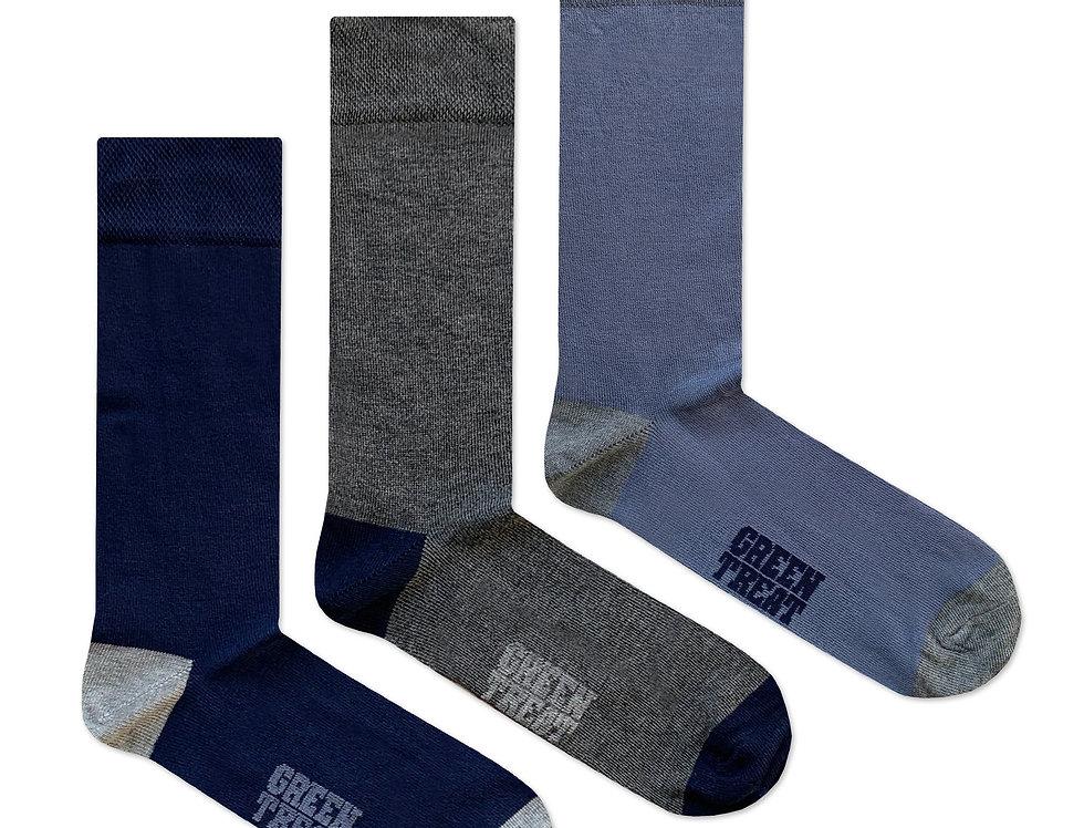 Mens GreenTreat 3pk Bamboo Socks MSHGT1328