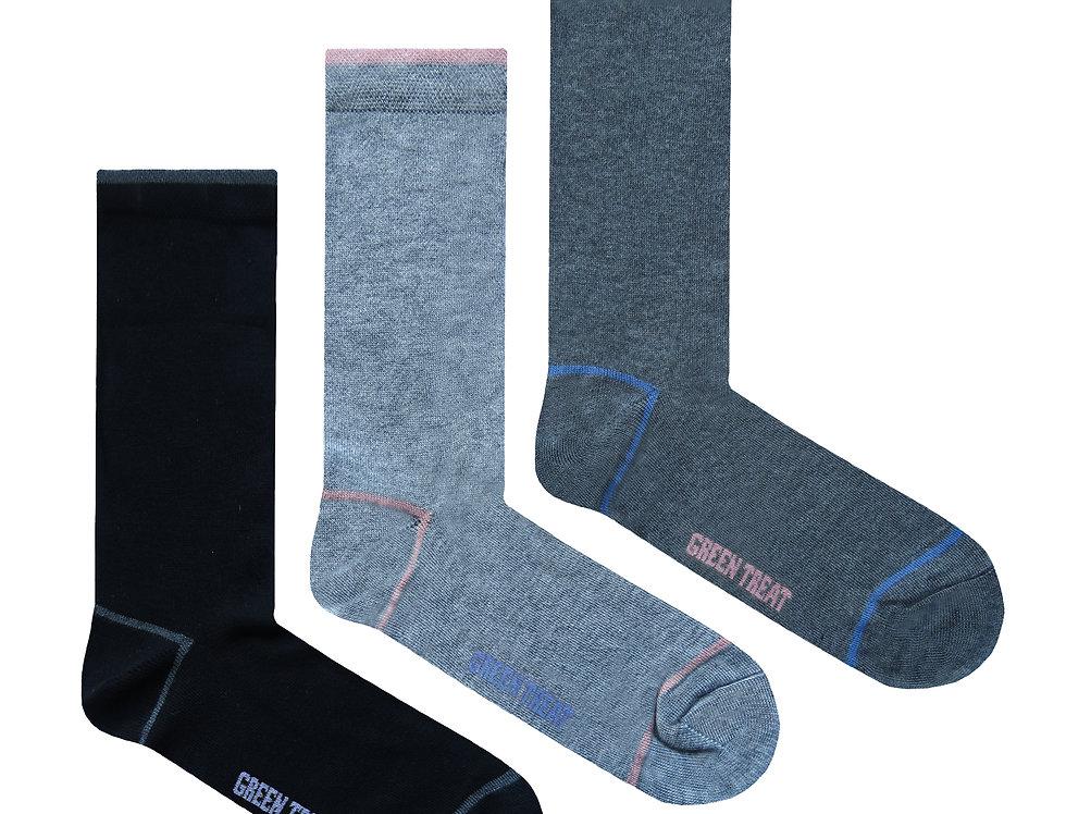 Ladies GreenTreat 3pk Bamboo Socks LSHGT1570