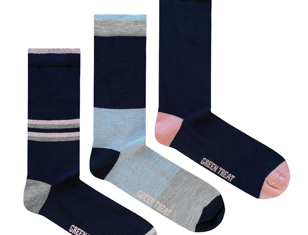 Ladies GreenTreat 3pk Bamboo Socks