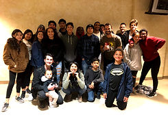 Youth group poses at Life Spring Community Church