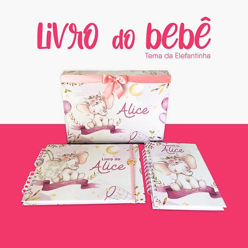 Kit completo - Livro do bebê + Caderneta e Caixa luxo