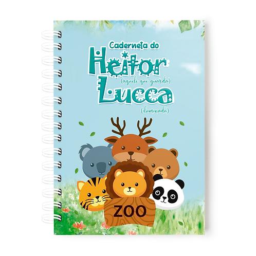Caderneta de Vacinas- Tema Zoo