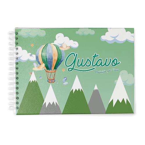 Livro do Bebê - Tema Balão e Montanha
