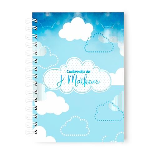Caderneta de Vacinas- Tema Nuvens
